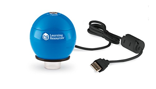 Learning Resources Zoomy 2.0 Handheld Digital Microscope, computer, projector, or interactive whiteboard accessories, Blue, Ages 4+