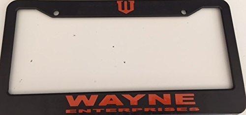 Mark Reynolds Wayne Enterprises - Black with Red Automotive License Plate Frame - Super Hero Dark Knight