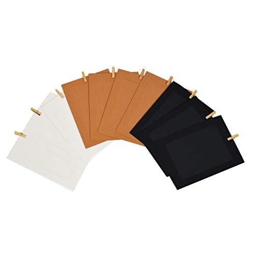 JXE Juego de 10 marcos de fotos de papel para impresora HP...