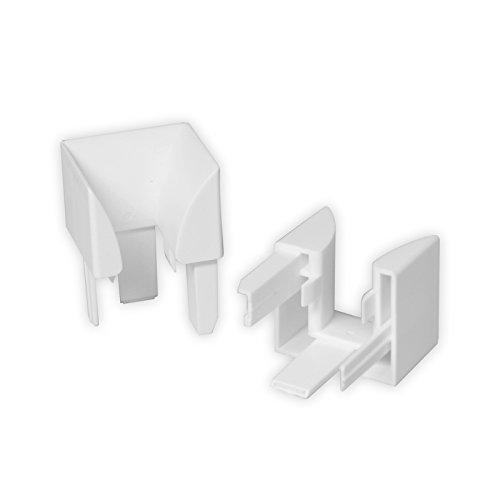 DIWARO Einlauftrichter für Mini-Führungsschiene aus Kunststoff | weiß | 977
