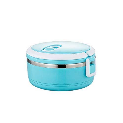 Caja de almuerzo saludable portátil Caja de bento Caja de almuerzo de aislamiento inoxidable Caja de comida para niños Contenedor térmico Caja de merienda Picnic Funda a prueba de fugas 1 capa azul