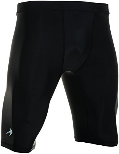 CompressionZ Men's Compression Shorts - Athletic Running & Sports Underwear (Black, L)