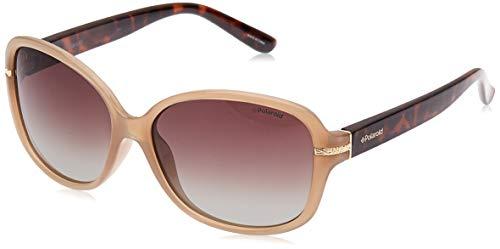 Polaroid P8419 LA 10A Gafas de sol, Beige (Beige/Brown Faded Polarized), 58 para Mujer