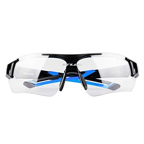 Männer Frauen Polarisierte Sonnenbrille Sportbrille mit wechselbare Linsen UV400 Schutz Radbrille Fahrradbrille - Schwarz Blau