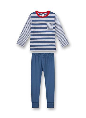 Sanetta Jungen Schlafanzug lang blau Pyjamaset, Ink Blue, 140