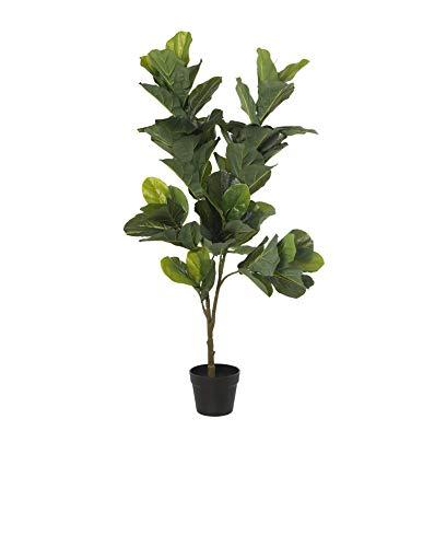 DRW Planta Artificial de PU de un ficus en Verde 120cm