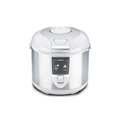 Gastroback 42507 Design Reiskocher, Abschalt-und Warmhaltefunktion, 3 Liter, antihaftbeschichtet, 450 Watt, Antihaftbeschichtung, Grau