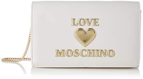 Love Moschino Precollezione SS21 | Borsa a Spalla da Donna, Bianco, Normal