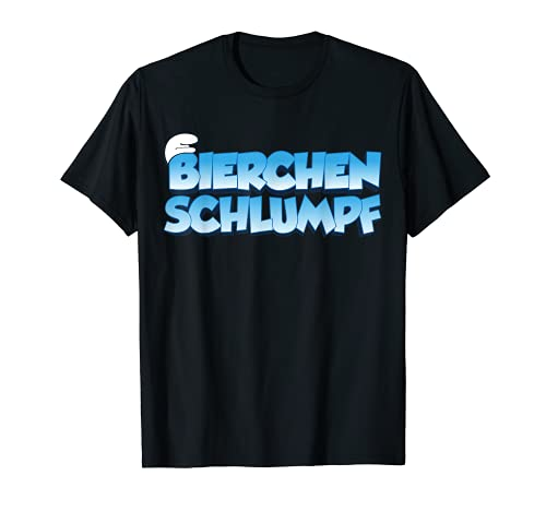 Bierchen Schlumpf lustiges Alkohol Schlümpfe Fan T-Shirt