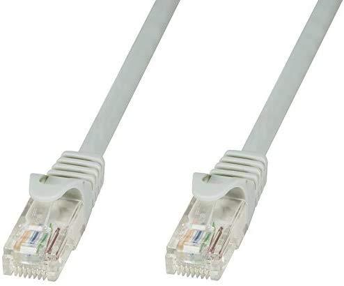 Vsnetwork Matassa 50 MT Metri Cavo di rete UTP CAT6 CCA RJ45 Patch Cord Gigabit 10/100/1000 Mbps per PS4 PS5 Xbox Compatibile con Cat 5 Cat5E Cat 7 Ethernet Grigio