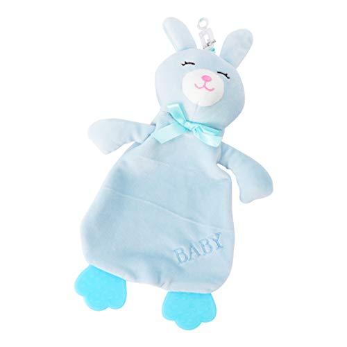 VILLCASE Toalla Pacificadora para Bebé Juguete Cómodo Goma de Mascar Toalla Calmante Lavable Toalla de Saliva para Bebé Juguete para El Bebé Azul Cielo