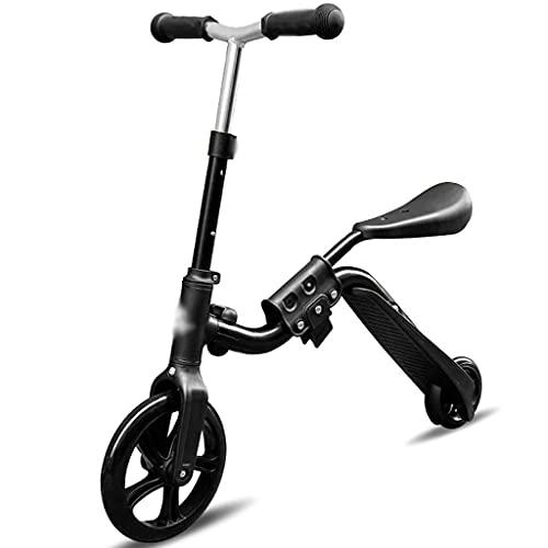 Patinete Scooters De Patrón De Dibujos Animados De Moda, Bicicleta De Asiento Extraíble, Monopatín De 2 Ruedas, Scooter De Truco Ajustable, para 3-12 Años