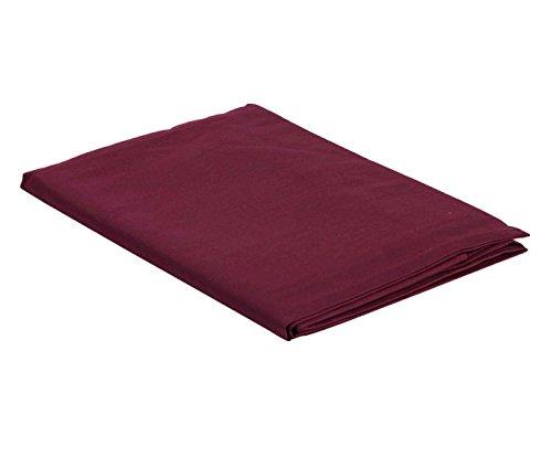 Italian Bed Linen Max Color Telo Copritutto in Tinta Unita, 100% Cotone, Prugna, Singolo, 170 x 300 cm