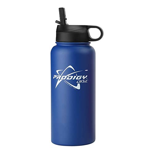 Prodigy Discs Logo 32 oz. Stainless Steel Insulated Disc Golf Water Bottle - Blue