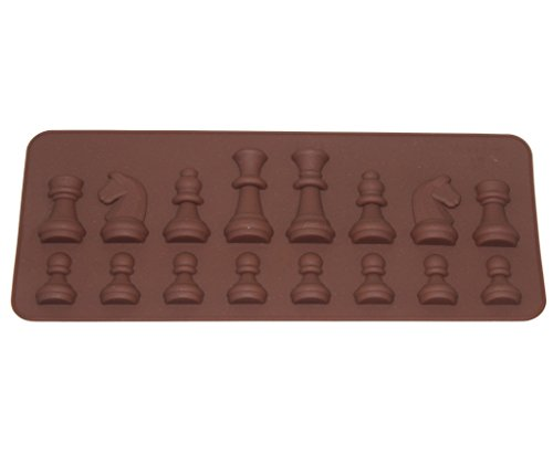 Tifan Silicone Chess Pieces Chocolate Candy Mold with Exclusive Chocolate