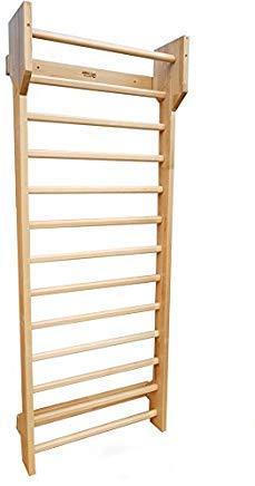 ARTIMEX Houten Zweedse Ladder (KLIMREK) Suspensie Trainer – Fysieke Therapie & Gymnastiek Tool - Ideaal voor Rugpijn Scoliose en Artritis Oefening-WANDREK van Beechwood, code 216-F-Schroth