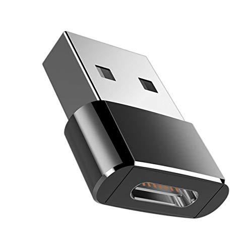 Monllack Universal USB C 3.1 Tipo C Hembra a USB 3.0 Tipo A Adaptador Convertidor de Puerto Macho Bolso OPP Negro Diseño Ligero Portátil (Negro)