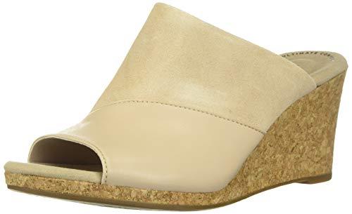 Clarks Women's Lafley Wave Wedge Sandal, Blush Leather/Suede Combi, 080 M US