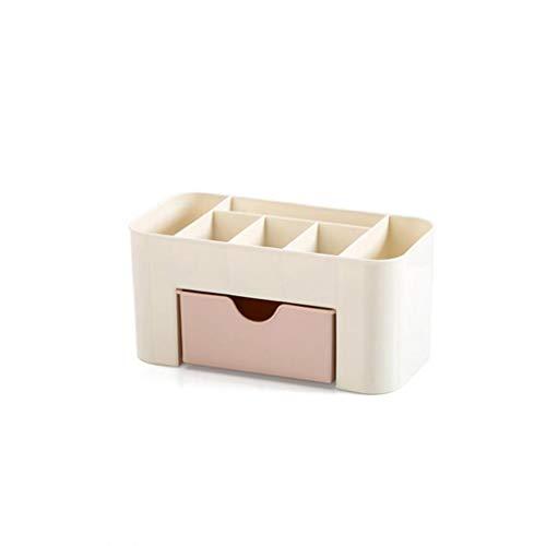 Odoukey Make-up Organizer stapelbare kosmetische Speicher mit Schubladen Schminktisch Badezimmer Aufsatz- Büro-Schreibtisch-Organizer für Stifte Schmuck Display (pink)