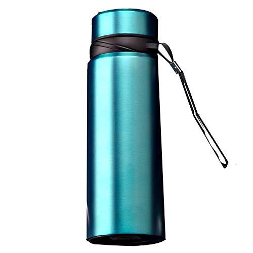 wuxafe Botellas Frío Caliente ReutilizableAislamiento de Vacío de Doble Pared Botella termica para Niños Colegio Sport Oficina Viajes Aire Libre