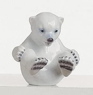 Royal Copenhagen White Fan 1020536 Polar Bear Cub, Sitting