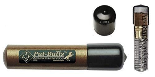 Spegnisigaro per Toscano Put - Butts Spegnisigaro Made in Italy. DAL PRODUTTORE il Modello Base Singolo L 080, Colore Bronzo.
