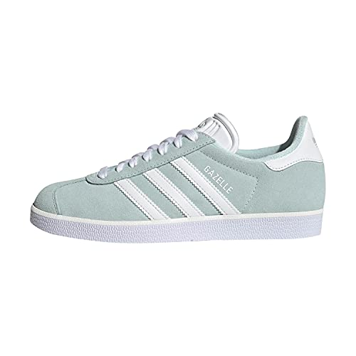 adidas Gazelle, Sneaker Mujer, Halo Mint/Core White/Silver Metallic, 36 EU