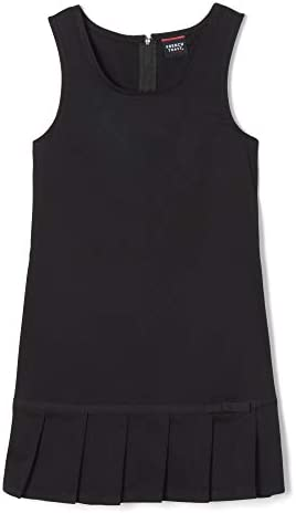 French Toast Girls Pleated Hem Jumper with Ribbon Black 6X Little Girls product image