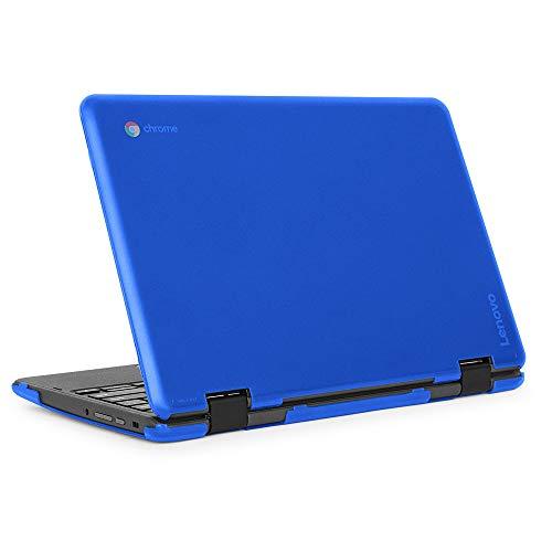 mCover Funda rígida para ordenador portátil Lenovo 300E (2ª generación) 2 en 1 Chromebook (no compatible con Lenovo 300E Windows y N21, N22, N23, 100E y 500E, color azul