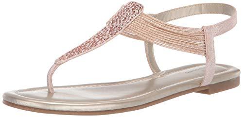 Bandolino Footwear Women's KAYTE Flat Sandal, Rose, 9