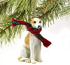 Whippet Miniature Dog Ornament - Tan & White by Conversation Concepts