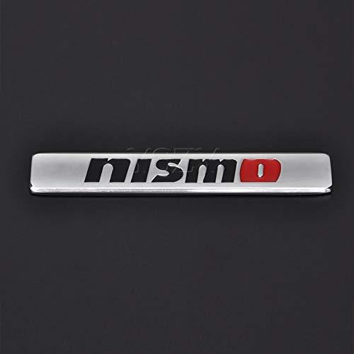 Adesivi per auto alla moda emblema decalcomania per Nissan Nismo Almera Tiida Teana Qashqai Juke X trail Skyline Note Auto accessori esterni adesivi 3D (nome colore: per argento Nismo)