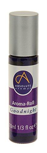 Absolute Aromas Goodnight Aroma - Rodillo de bola Roll-on - Contiene Aceites Esenciales de Lavanda, Geranio, Bergamota y Mejorana - Alternativa Natural para una noche de descanso