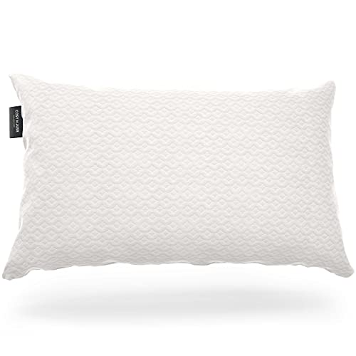 Cosy House Collection Luxury Bamboo Shredded Memory Foam Pillow - Adjustable Fit - Removable Fill - Ultra Soft, Cool & Breathable Cover with Zipper Closure (Queen)