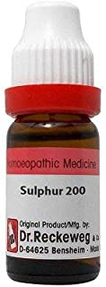 Dr. Reckeweg Sulphur 200 CH (11ml) - Pack Of 1 Bottle & (Free St. George's ASMA MIX - An Ideal Remedy for Breathing Diffic...