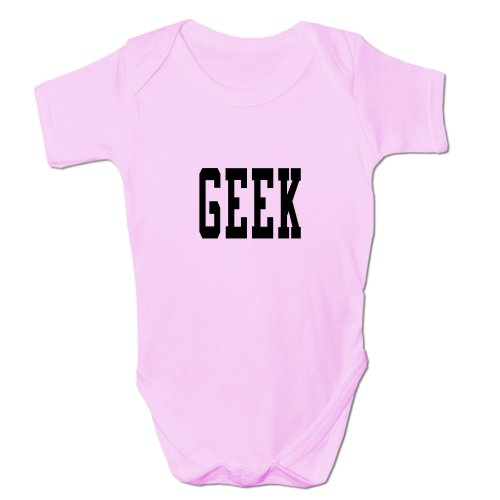 Bang Tidy Clothing Enfant Mixte Body Geek 6-9 Mois Rose