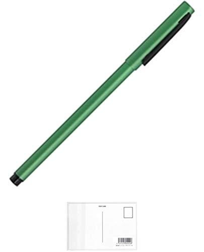 ゼブラ フォルティアem. エマルジョンボールペン 緑 BA98-G 【× 5 本 】 + 画材屋ドットコム ポストカードA