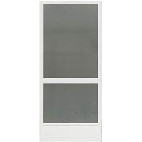 Canoe Creek White Aluminum Screen Door (80x36)