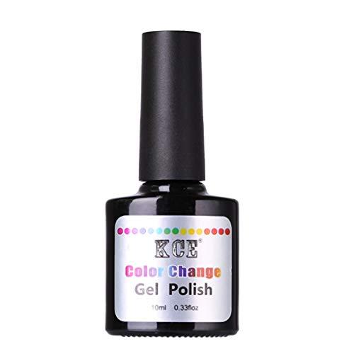 Nail Art Sticker, 10ml Fashion New Temperature Change Nail Gel Polish Nail Art Glue Sets Health and Beauty Nail Art