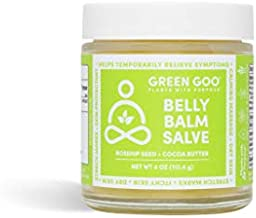 Green Goo Natural Pregnancy Stretch Mark Cream, Belly Balm Stretch Mark Removal (4 Ounce Jar)