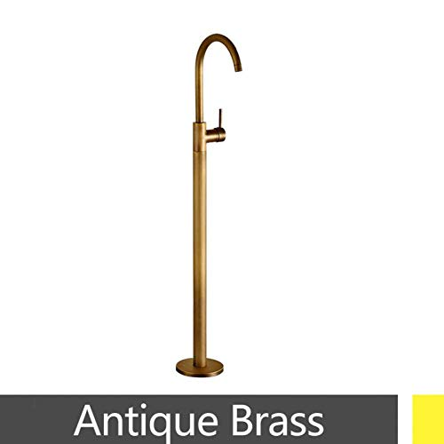 %41 OFF! Shower System Chrome Antique Brass Gold Brushed Nickel Floor Standing tap Hot and Cold Mixe...