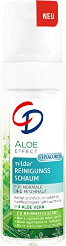 CD Aloe Effect milder Reinigungsschaum, 150 ml, porentiefe Reinigung, mit Hyaluron & Aloe vera, veganer Schaum für sanfte Gesichtspflege, für empfindliche Haut geeignet