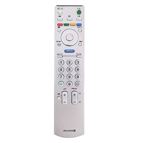 Nuovo telecomando sony bravia TV di ricambio RM-ED008 per Sony Bravia Telecomando adatto per Sony Smart TV - Nessuna impostazione richiesta Telecomando universale RM-ED005 / RM-ED007 / RM-ED008