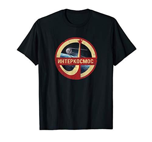 Sputnik Interkosmos Vintage Russische Buchtaben CCCP T-Shirt