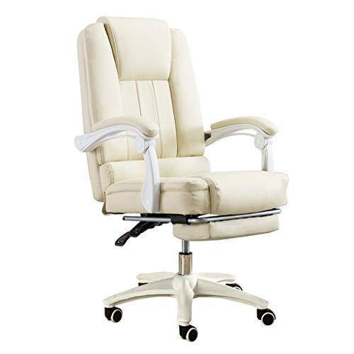 Silla de Ordenador Rosa Silla giratoria reclinable para Juegos de Dormitorio en casa Silla de Oficina Boss con reposapiés 150 Grados reclinado cómodamente sedentario