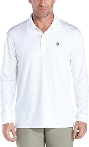 Coolibar pour Homme UPF 50 + Sport UV Polo T-Shirt XXL Blanc