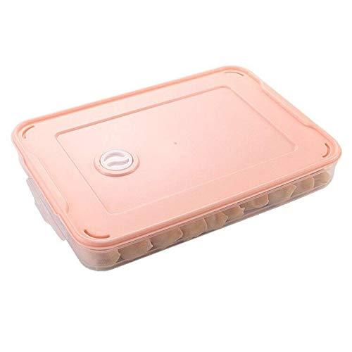 Hueveras Para Frigorifico 2 unids refrigerador caja de almacenamiento de alimentos accesorios de cocina organizador caja de masa hervidas de huevo vegetal apilable Huevera (Color : Pink)