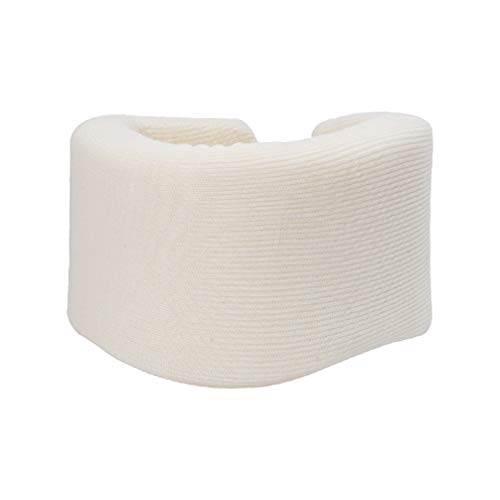 Milisten Collarín Cervical Soporte de Espuma para El Cuello para Dormir Dolor de Cuello Presión de La Columna Vertebral (Blanco S)