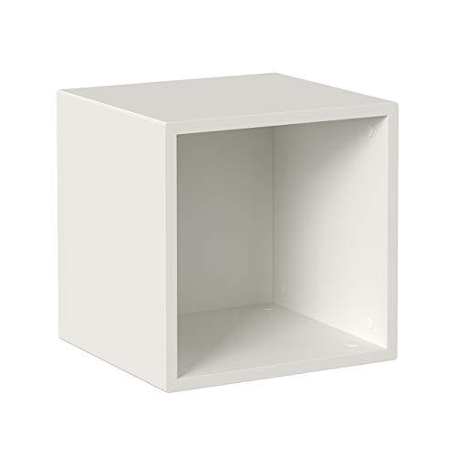 Iconico Home QBE Cubo da parete 1 vano a giorno, Ingresso, Soggiorno, Camera da letto, Cameretta ragazzi, Studio, 37,5x35xh37,5 cm, Bianco