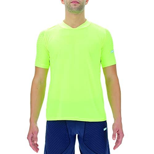 Unleash Your Nature UYN Man City Running OW Shirt SH_SL Chaqueta calentadora, Amarillo Fluorescente, Small para Mujer